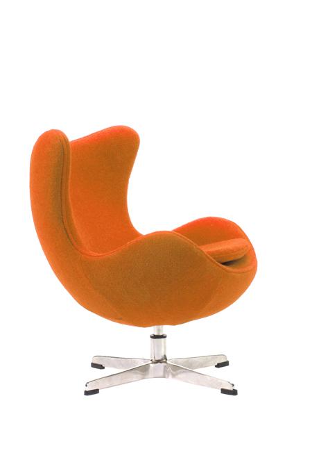 Детское кресло Egg Chair Оранжевое 100% Шерсть М