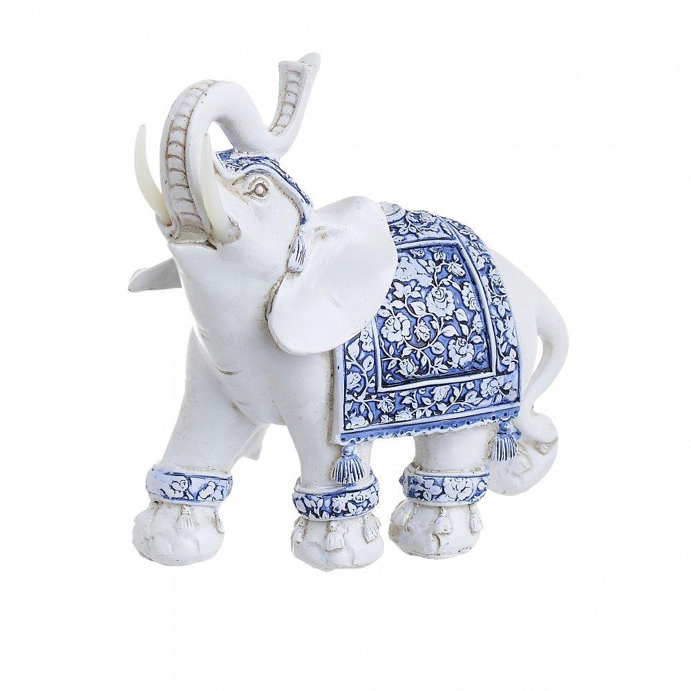 Статуэтка Слон белого, синего цвета