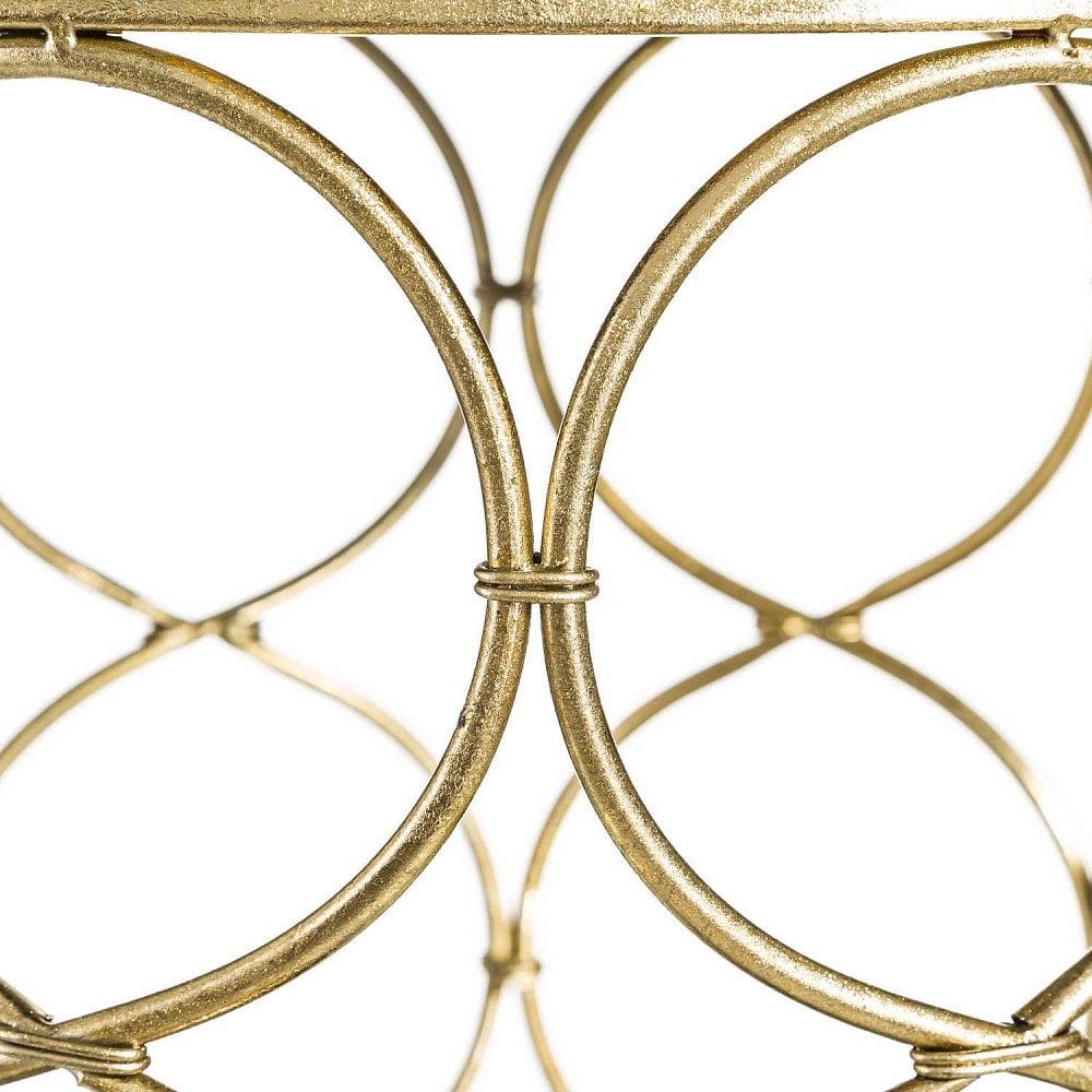 Стол-этажерка золотого цвета