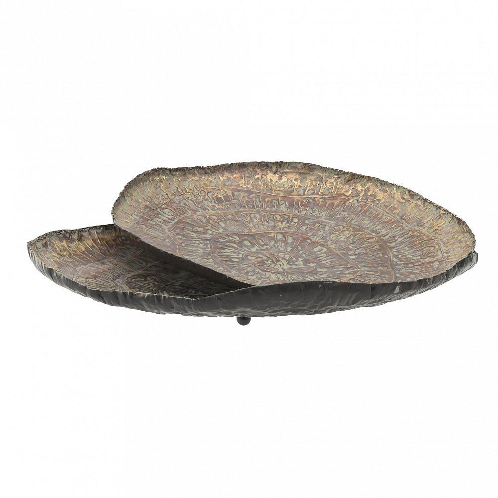 Набор подносов, 2 шт. коричневого цвета