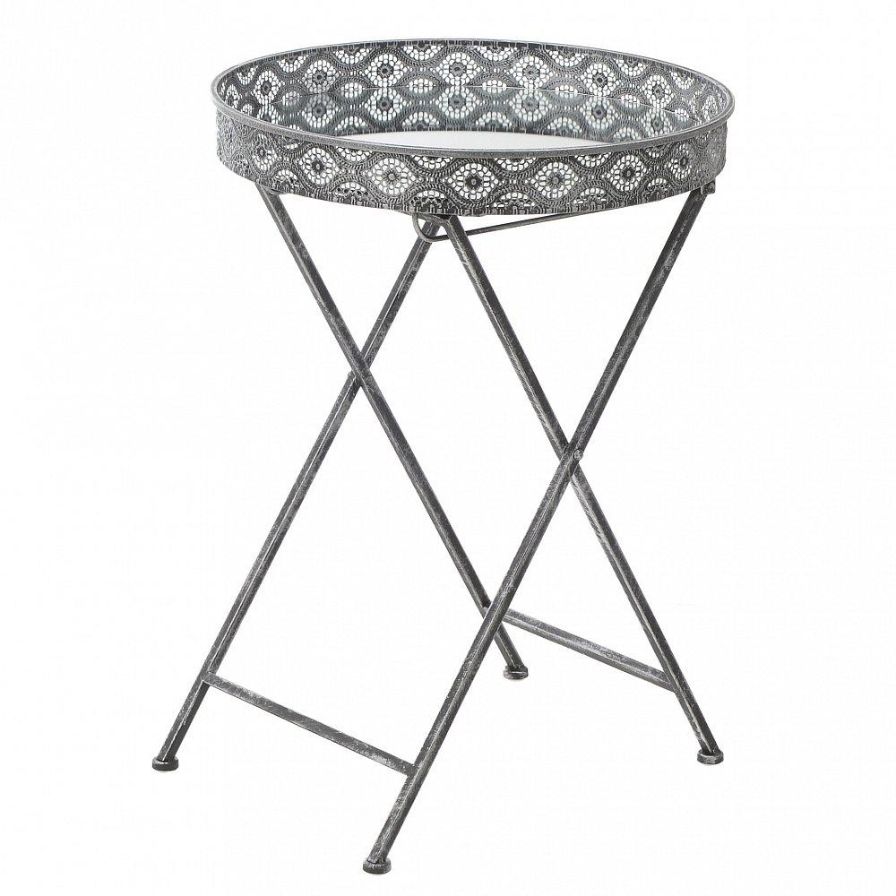 Стол-поднос серебристого цвета