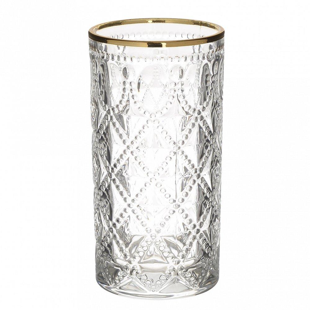 Набор бокалов, из 6 шт. Crona M прозрачный, золотого цвета