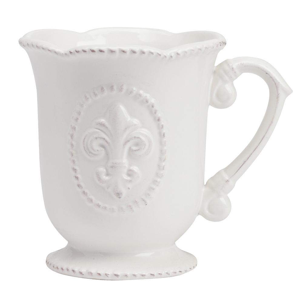 Кружка Tess CreamКружки<br>Кружка Tess Cream выполнена из керамики, в кремовом <br>цвете. Особенностью декора кружки является <br>рельефное изображение геральдической лилии, <br>придающее изделию особую торжественность. <br>Кружку можно использовать как вариант для <br>подарка.<br><br>Цвет: Белый<br>Материал: Керамика<br>Вес кг: 0,3<br>Длина см: 14<br>Ширина см: 11<br>Высота см: 12,7