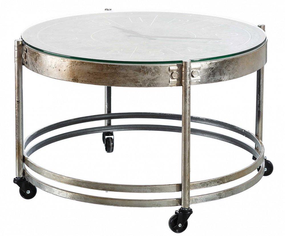 Стол с часами Rekky серебристого цвета