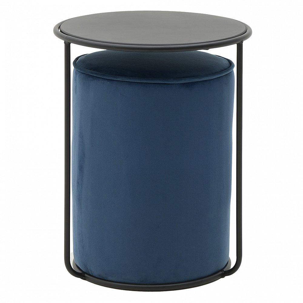 Стол и пуф B&G синий