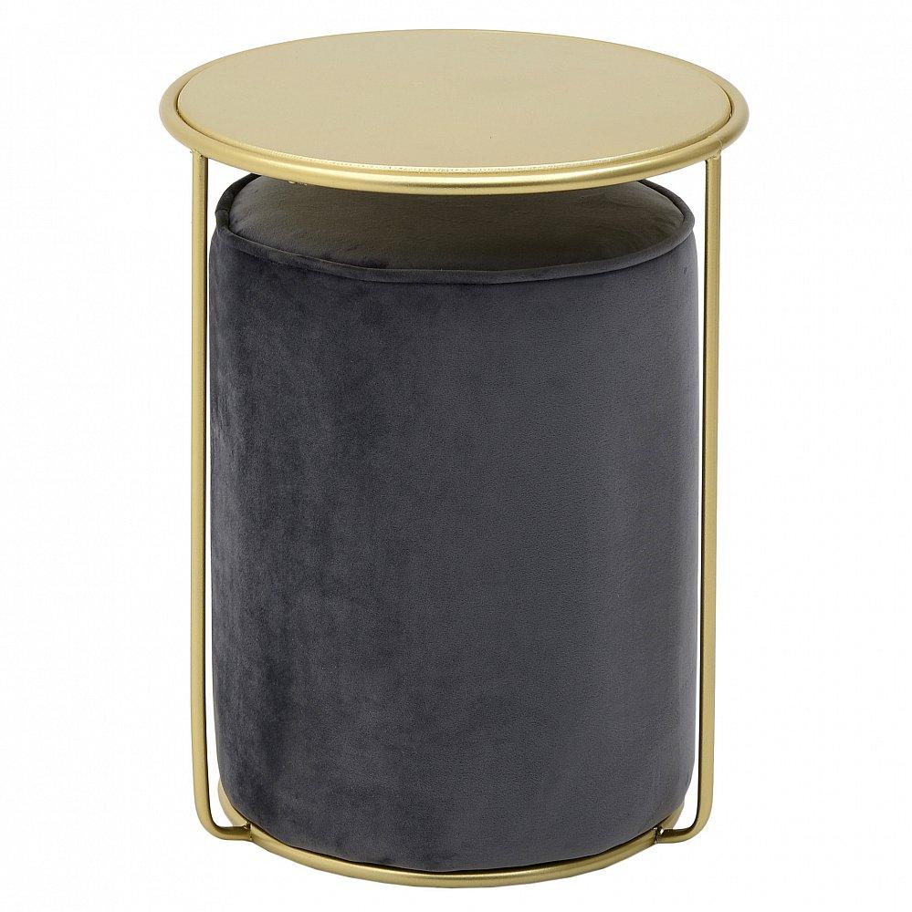 Стол и пуф B&G черный