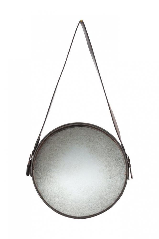 Зеркало Iron and Rope RoundЗеркала<br>Зеркало Iron and Rope Round выполнено в винтажном <br>стиле. Стекло имеет обработку под старину, <br>зеркало вмонтировано в металлическую оправу <br>коричневого цвета, крепится на ремешке. <br>Это круглое небольшое зеркало впишется <br>в любой стиль интерьера.<br><br>Цвет: Коричневый<br>Материал: Зеркало, Металл<br>Вес кг: 1,2<br>Длина см: 38<br>Ширина см: 1<br>Высота см: 38