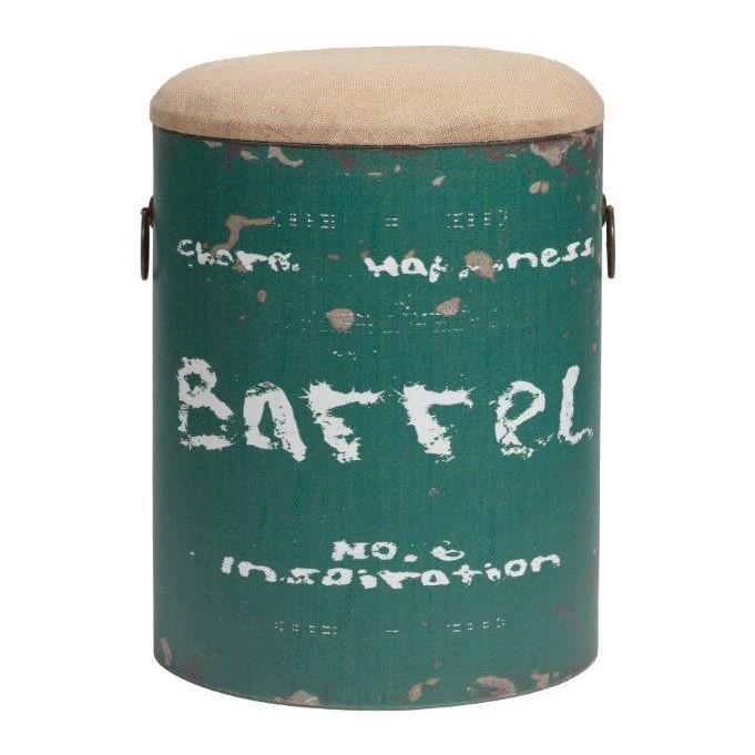 Столик-табурет Barrel GreenКофейные и журнальные столы<br>Оригинальный столик-табурет Barrel Green в виде <br>металлической бочки, окрашенной в зелёный <br>цвет, с полустертыми надписями. Съёмная <br>мягкая крышка табурета покрыта бежевой <br>тканью в виде пены. Покоряет многофункциональность <br>столика-табурета: помимо того, что его можно <br>использовать как журнальный или прикроватный <br>столик, столик дополнен ещё и функцией ящика <br>— внутри него есть место для хранения. Когда <br>к вам придут гости, его можно применить <br>в качестве пуфика. Лаконичное сочетание <br>формы и декора позволяют восхититься дизайнерской <br>находкой. Столик-табурет Barrel Green прекрасно <br>подойдет для помещения в популярном стиле <br>лофт.<br><br>Цвет: зеленый<br>Материал: Металл<br>Вес кг: 3,6<br>Длина см: 36<br>Ширина см: 34<br>Высота см: 46