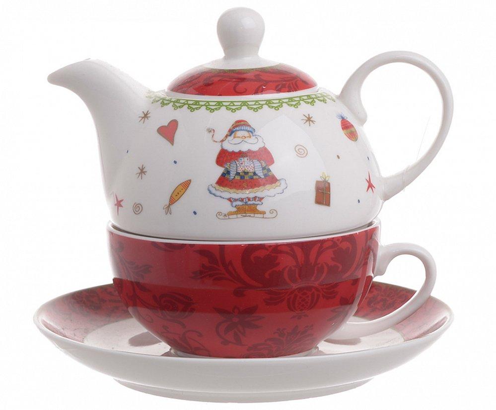 Чайник-чашка с блюдцем