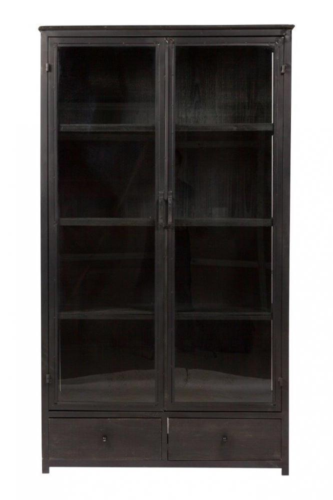 Шкаф Estilo, DG-F-WD07Шкафы и стеллажи<br>Большой шкаф Estilo черного цвета, с застекленными <br>дверцами, четырьмя открытыми полками и <br>двумя выдвижными ящиками внизу, привнесет <br>в ваш дом покой и тепло. Классический дизайн <br>шкафа, с элементами состаривания, рассчитан <br>на любителей старины. Благодаря надёжным <br>комплектующим, элегантному декору, модель <br>смотрится изящно и эффектно.<br><br>Цвет: None<br>Материал: None<br>Вес кг: 24.2