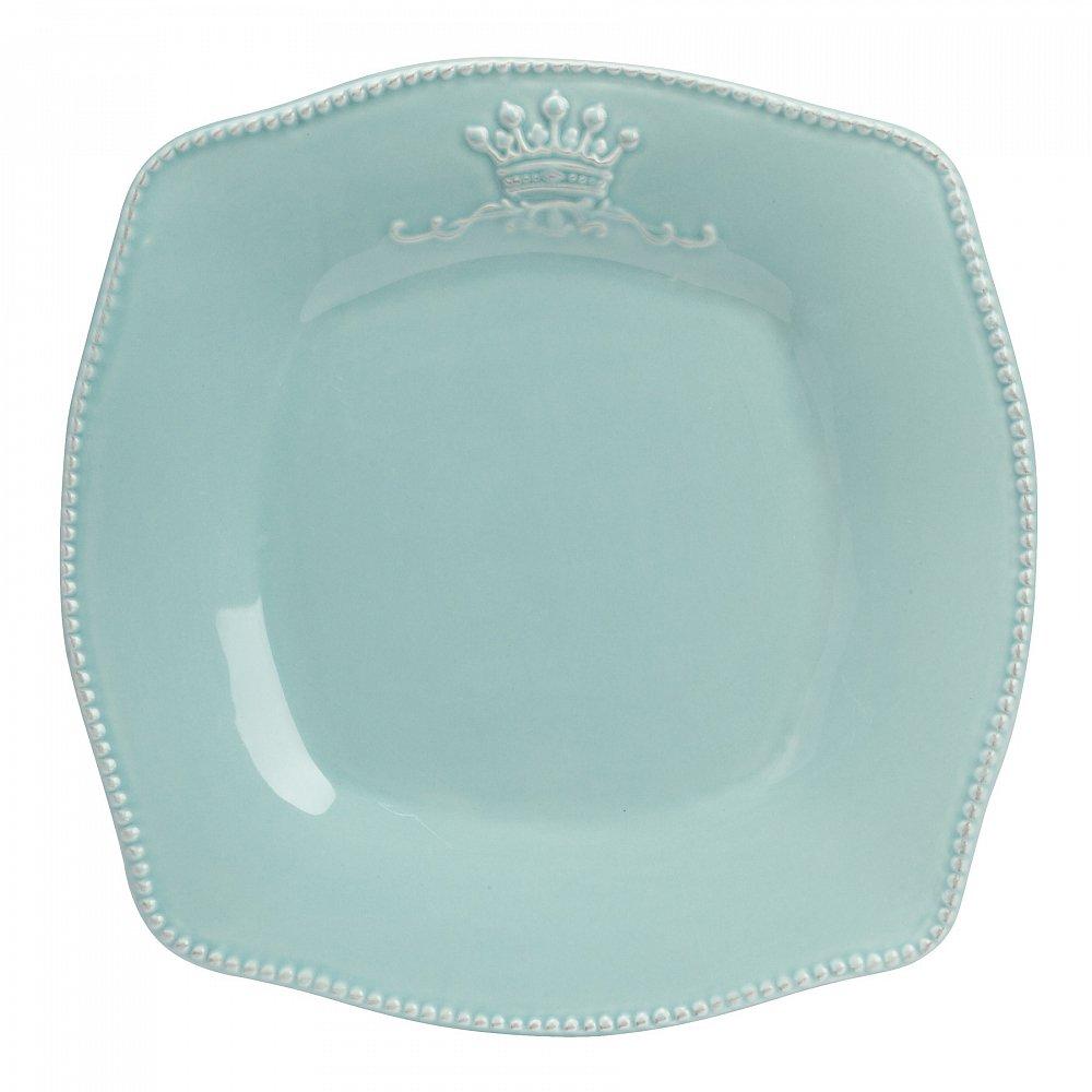 Тарелка MonacoТарелки<br><br><br>Цвет: Светло-бирюзовый<br>Материал: Грубая керамика<br>Вес кг: 0,6<br>Длина см: 22,5<br>Ширина см: 22,5<br>Высота см: 2,5