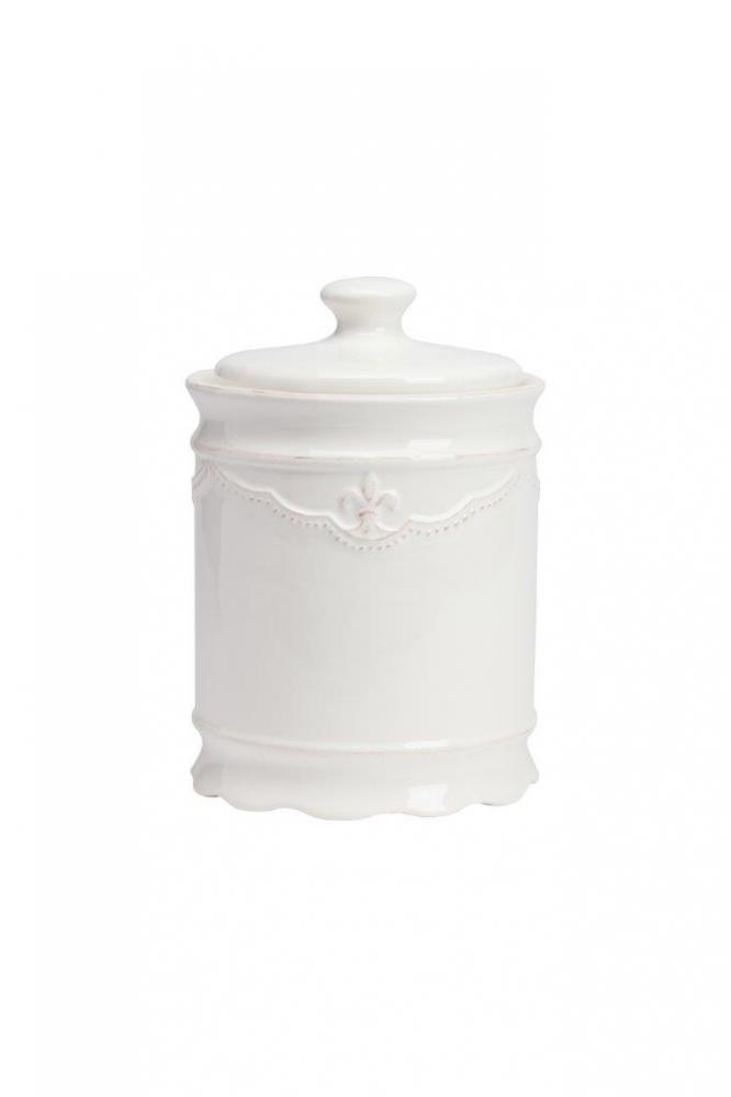 Емкость для хранения Amur GrandeКухонные принадлежности<br>Ёмкость для хранения Amur Grande выполнена из <br>керамики, покрыта глазурью белого цвета. <br>Крышка снабжена удобной ручкой. Декорирована <br>геральдической лилией в верхней части емкости. <br>Вы можете приобрести и другие емкости данной <br>коллекции.<br><br>Цвет: Белый<br>Материал: Керамика<br>Вес кг: 0,9<br>Длина см: 13<br>Ширина см: 13<br>Высота см: 20