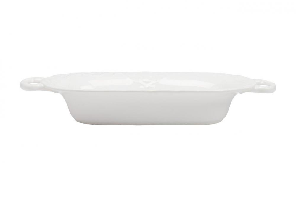 Блюдо LadyБлюда<br><br><br>Цвет: Белый<br>Материал: Грубая керамика<br>Вес кг: 0,8<br>Длина см: 37<br>Ширина см: 17,27<br>Высота см: 6