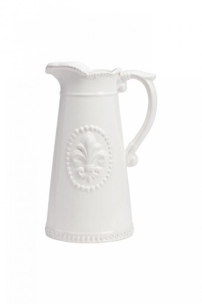 Кувшин Tess CreamКухонные принадлежности<br>Кувшин Tess Cream выполнен из грубой керамики, <br>в кремовом цвете. Особенностью декора кувшина <br>является рельефное изображение геральдической <br>лилии, ручка выполнена в виде завитка, это <br>придаёт изделию особую торжественность. <br>Кувшин можно использовать как вариант для <br>подарка в сочетании с другими столовыми <br>приборами.<br><br>Цвет: Бежевый<br>Материал: Грубая керамика<br>Вес кг: 0,8<br>Длина см: 15<br>Ширина см: 13<br>Высота см: 23