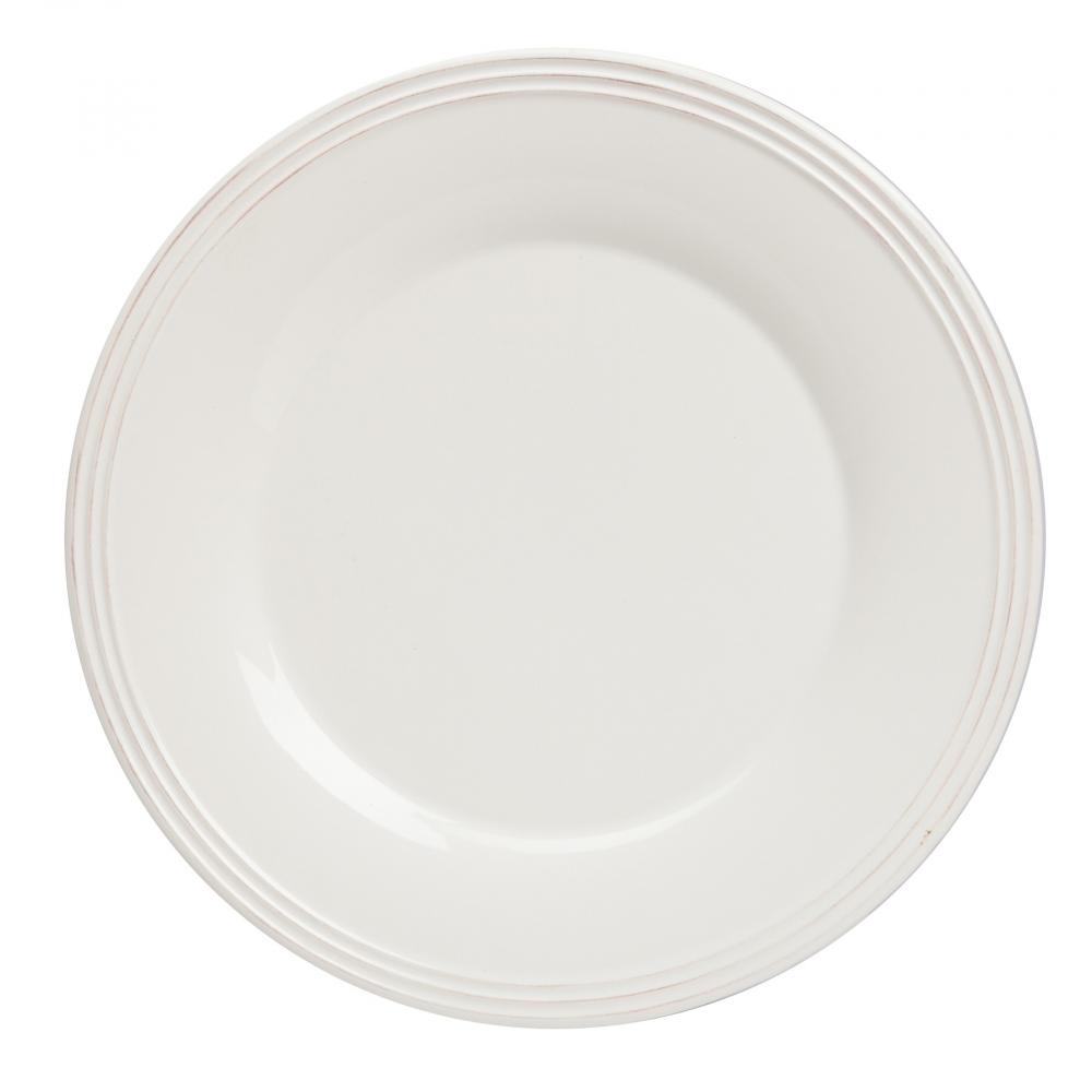 Тарелка FirenzeТарелки<br>Белая тарелка Firenze диаметром 28 см, выполненная <br>из грубой керамики в стиле Прованс, подойдёт <br>для любого стиля сервировки стола. По краю <br>тарелка декорирована рельефной окантовкой, <br>что предаёт ей особую элегантность. Возможно, <br>у вас появится желание приобрести тарелку <br>вместе с другими столовыми приборами данной <br>коллекции.<br><br>Цвет: Белый<br>Материал: Грубая керамика<br>Вес кг: 0,8<br>Длина см: 28<br>Ширина см: 28<br>Высота см: 0,9