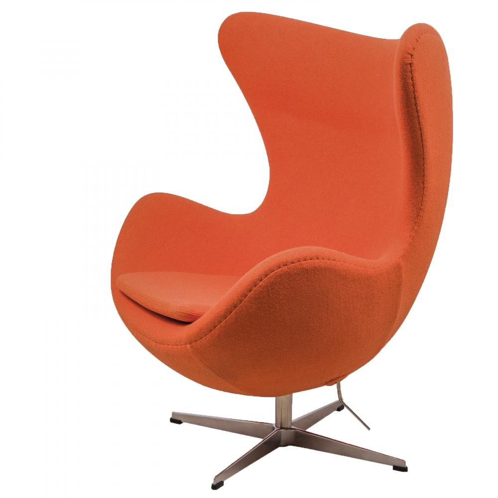 Кресло Egg Chair Оранжевое 100%  Шерсть М