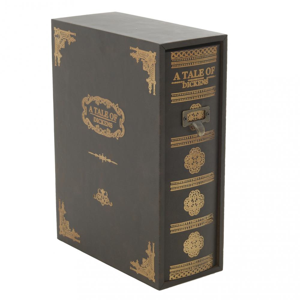 Коробка для бумаг коричневого цвета