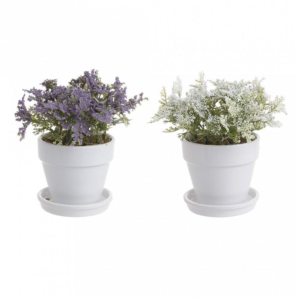 Искусственный цветок в кашпо, 2 дизайна