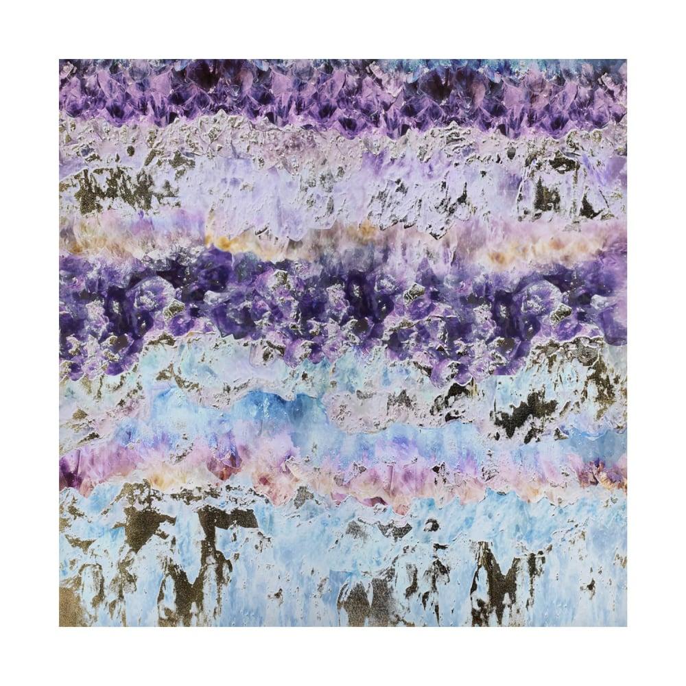 Картина фиолетовая акварель