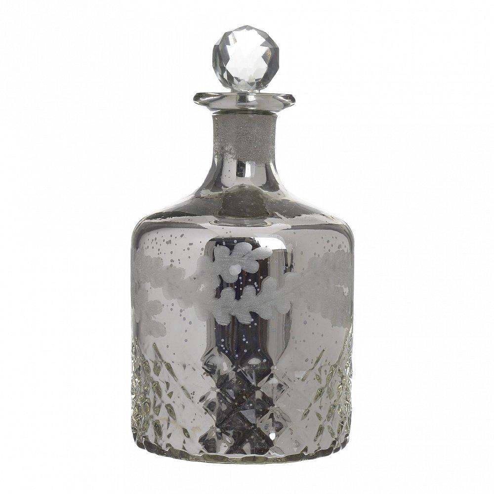 Бутыль с крышкой серебристого цвета