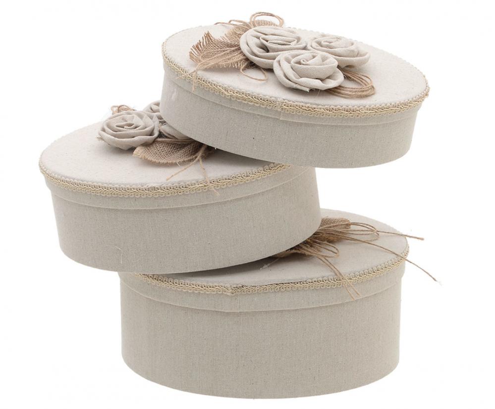 Набор шляпных коробок, 3 шт. бежевого цвета