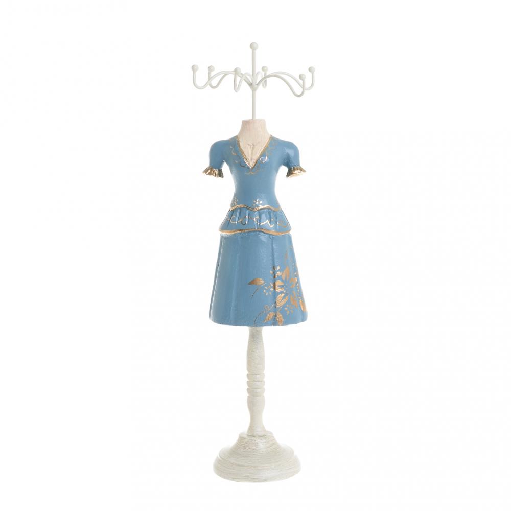 Манекен для украшений голубого цвета
