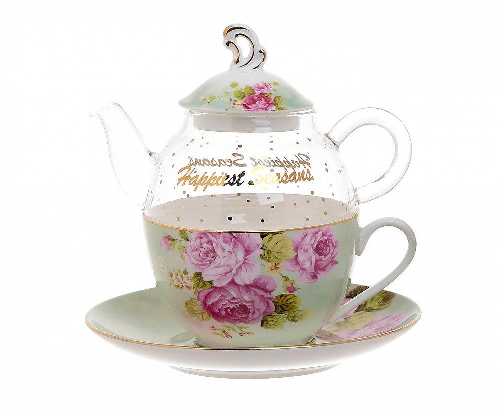 Чайник-чашка Flower 500 мл + 300 мл