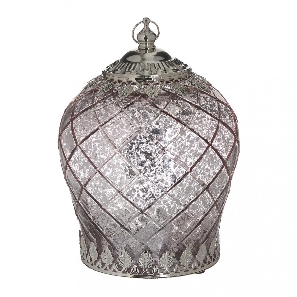 Фонарь с LED Crystal серебристого цвета