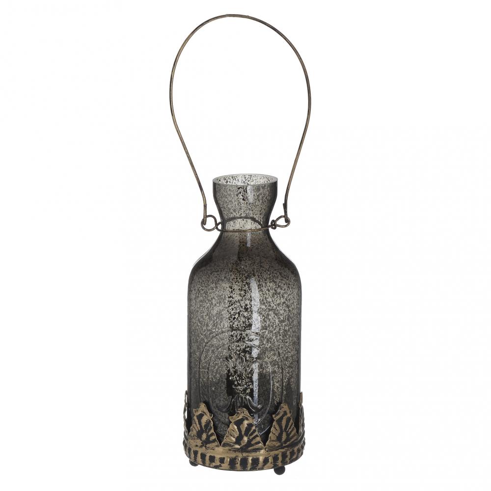Фонарь с LED Бутыль серебристого цвета