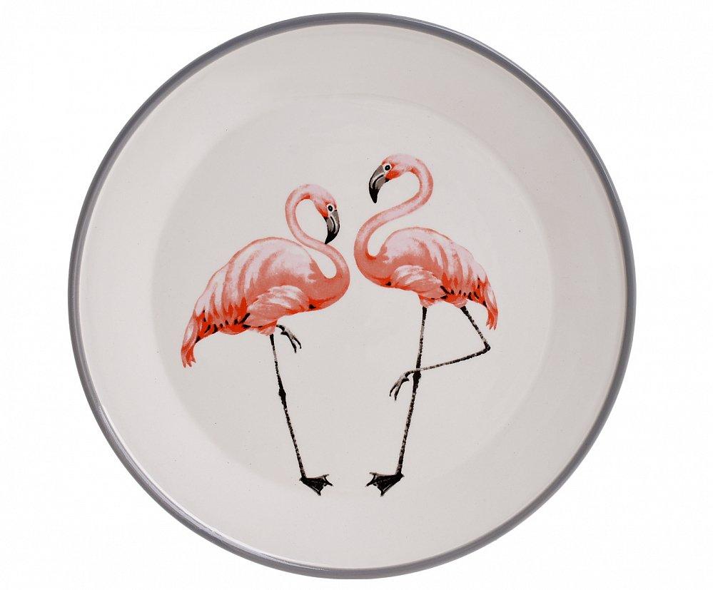 Тарелка Фламинго S
