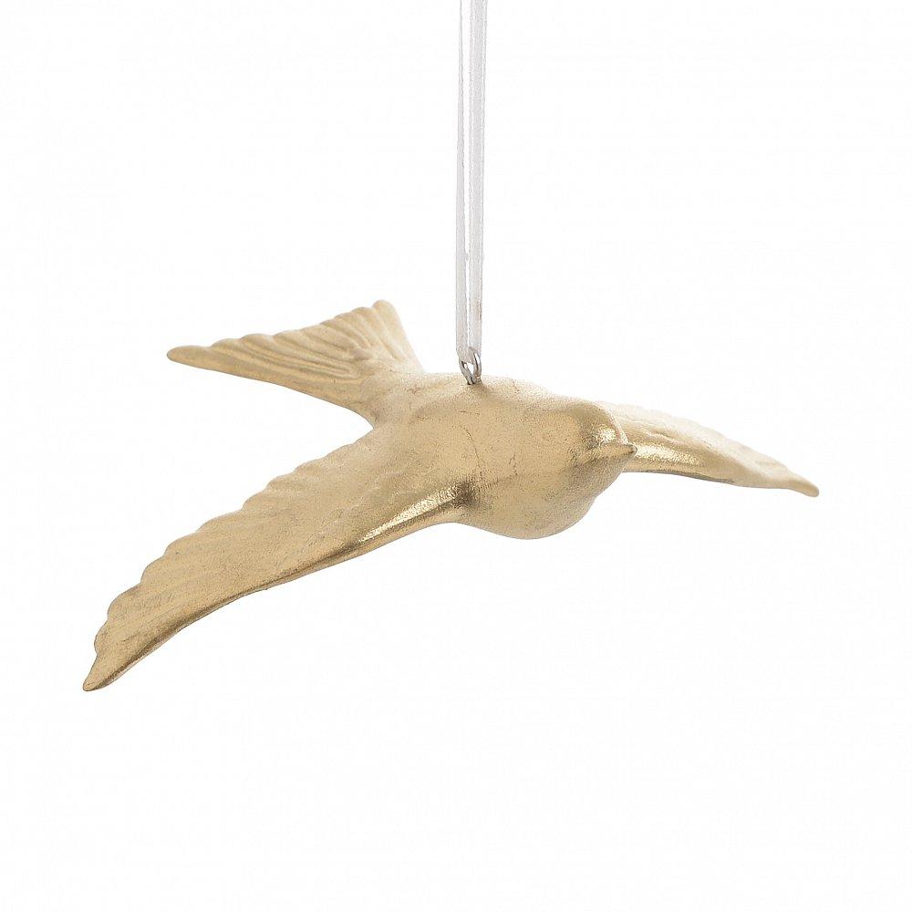Декор подвесной Птица золотого цвета