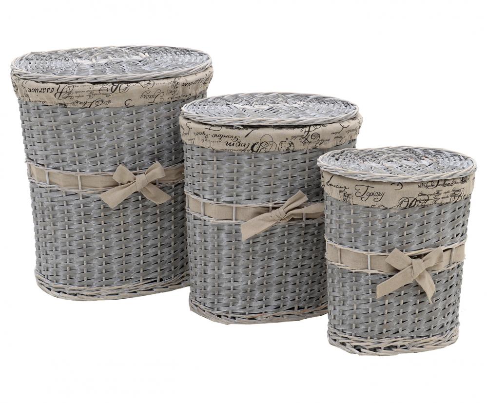 Набор корзин Stella 3 шт. серого цвета