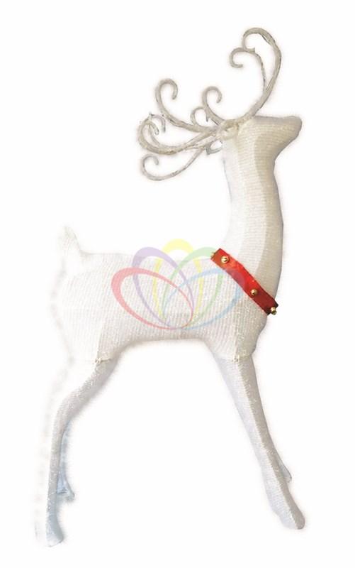 Синтетическая 3D фигура Олень с красной лентой, 122 см