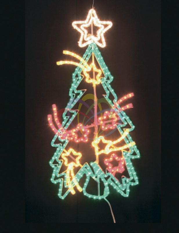 Фигура Праздничная Ель с кометами 100x77 см