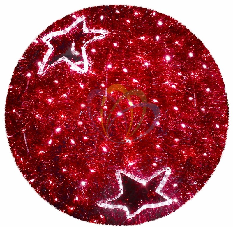 Фигура LED Шар 120 см, красный
