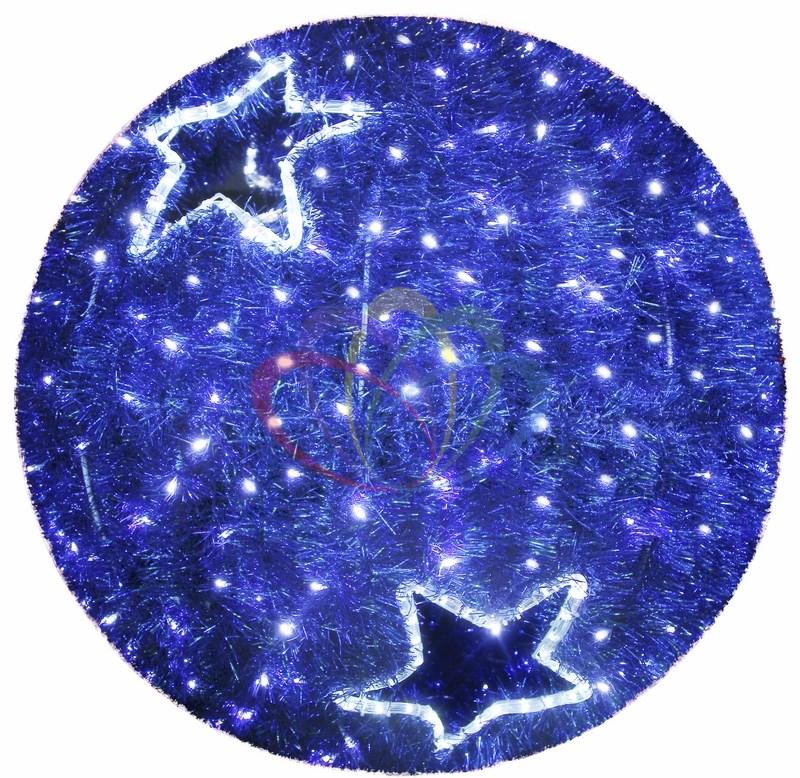 Фигура LED Шар 120 см 120 см, синий