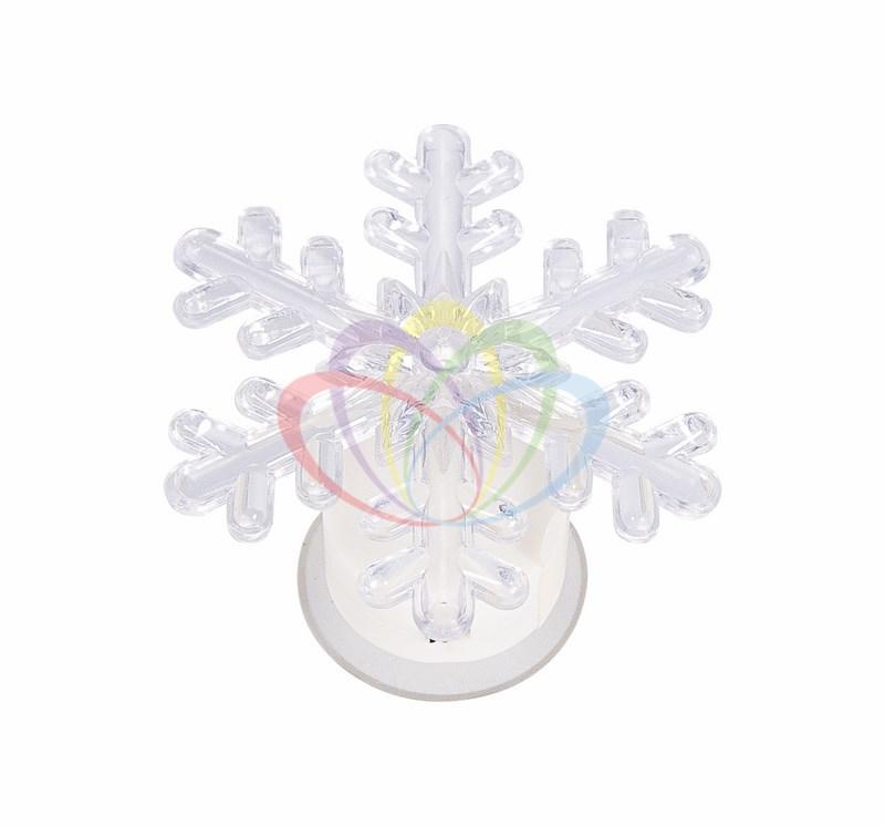 Фигура светодиодная на присоске Снежинка маленькая, RGB