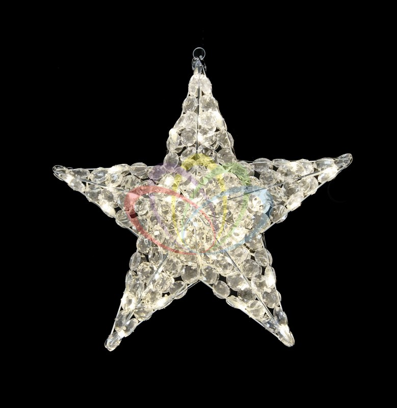 Фигура стеклянная Звезда, 30 см