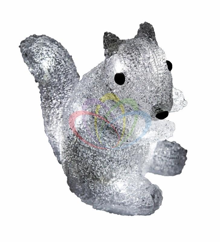 Акриловая светодиодная фигура Белка 18 см