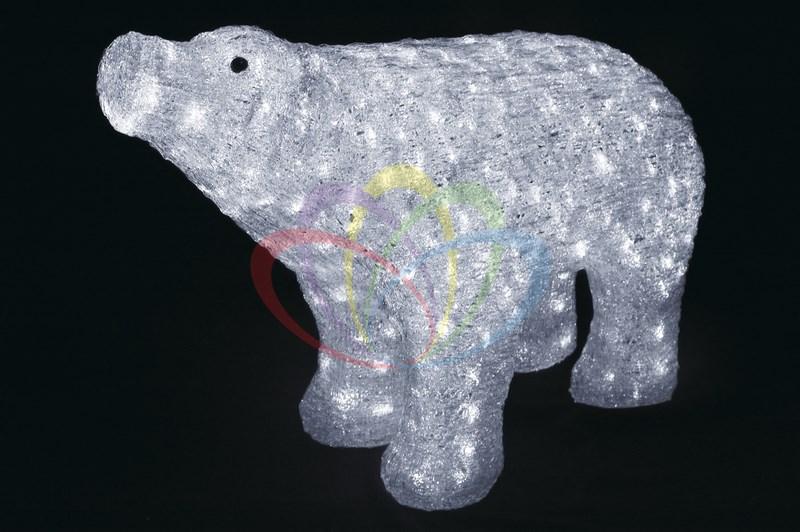 Акриловая светодиодная фигура Белый медведь, 55 см