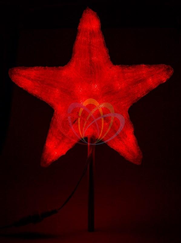 Акриловая светодиодная фигура Звезда, 50см, красная