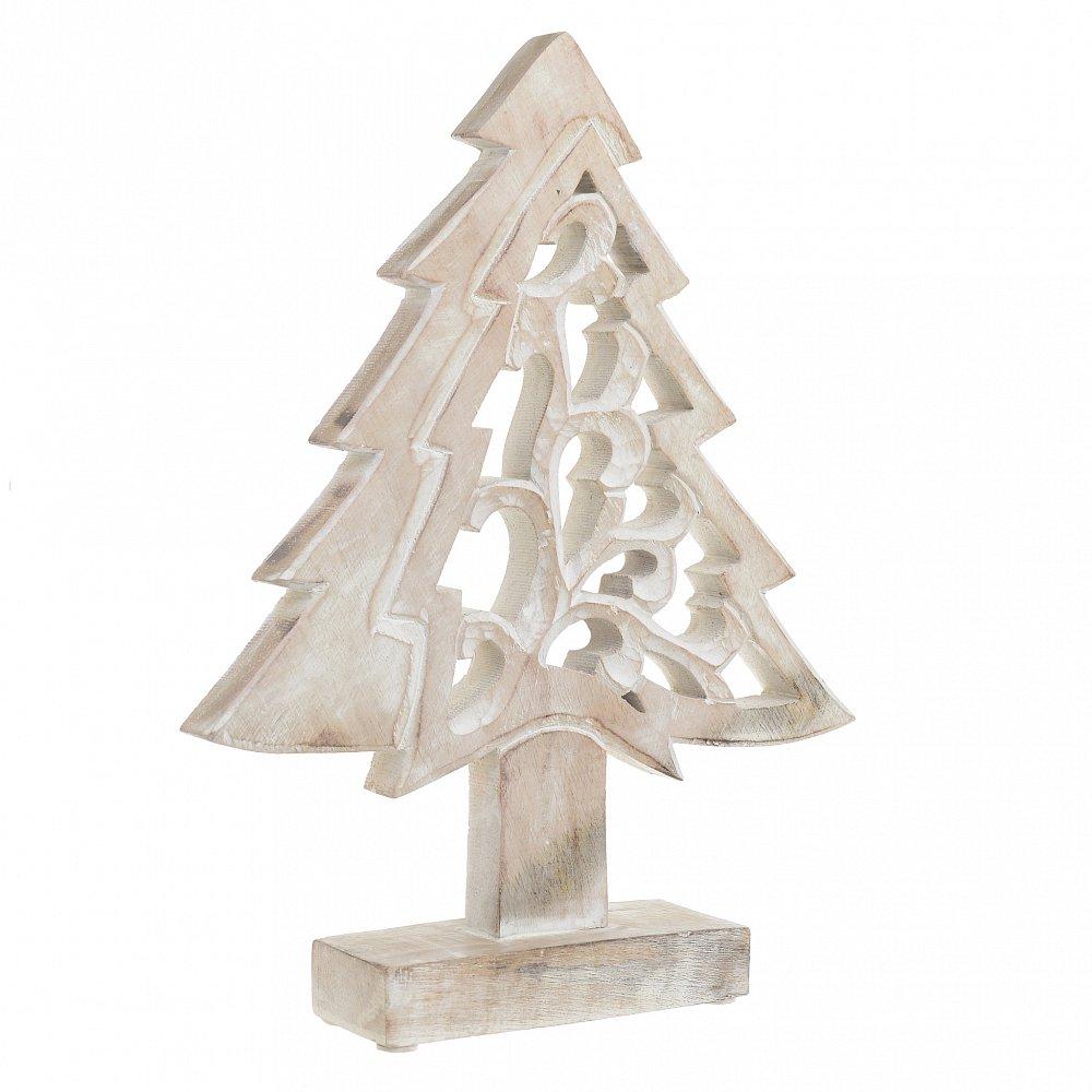 Декор настольный НГ елка белая