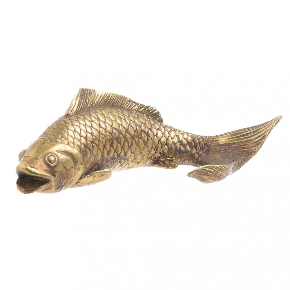 Декор настольный Рыба золотого цвета