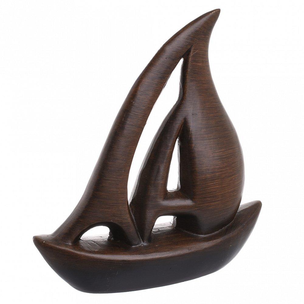 Декор настольный Лодка 2 коричневого цвета