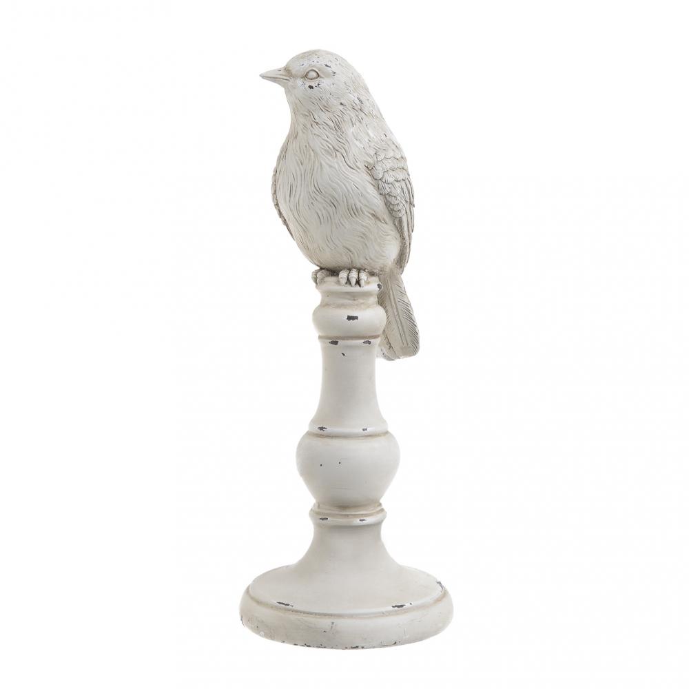 Декор настольный Птичка белого цвета