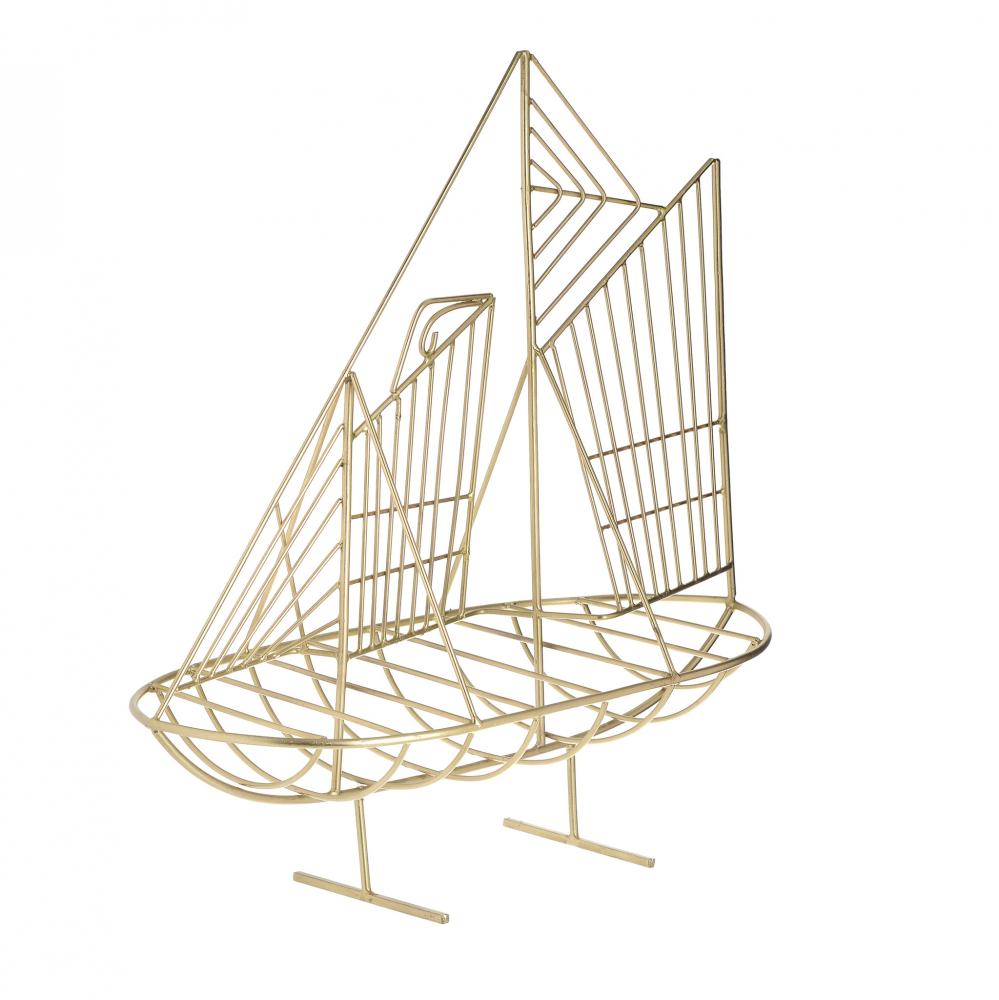 Декор настольный Яхта золотого цвета