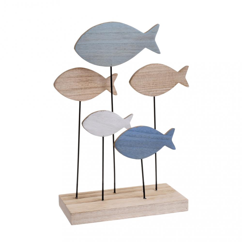 Декор настольный Рыбы мультиколор