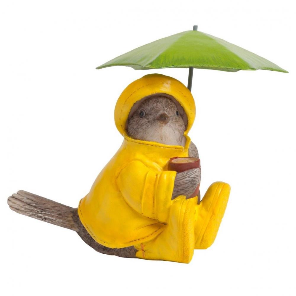 Статуэтка Chickabiddy с зеленым зонтиком
