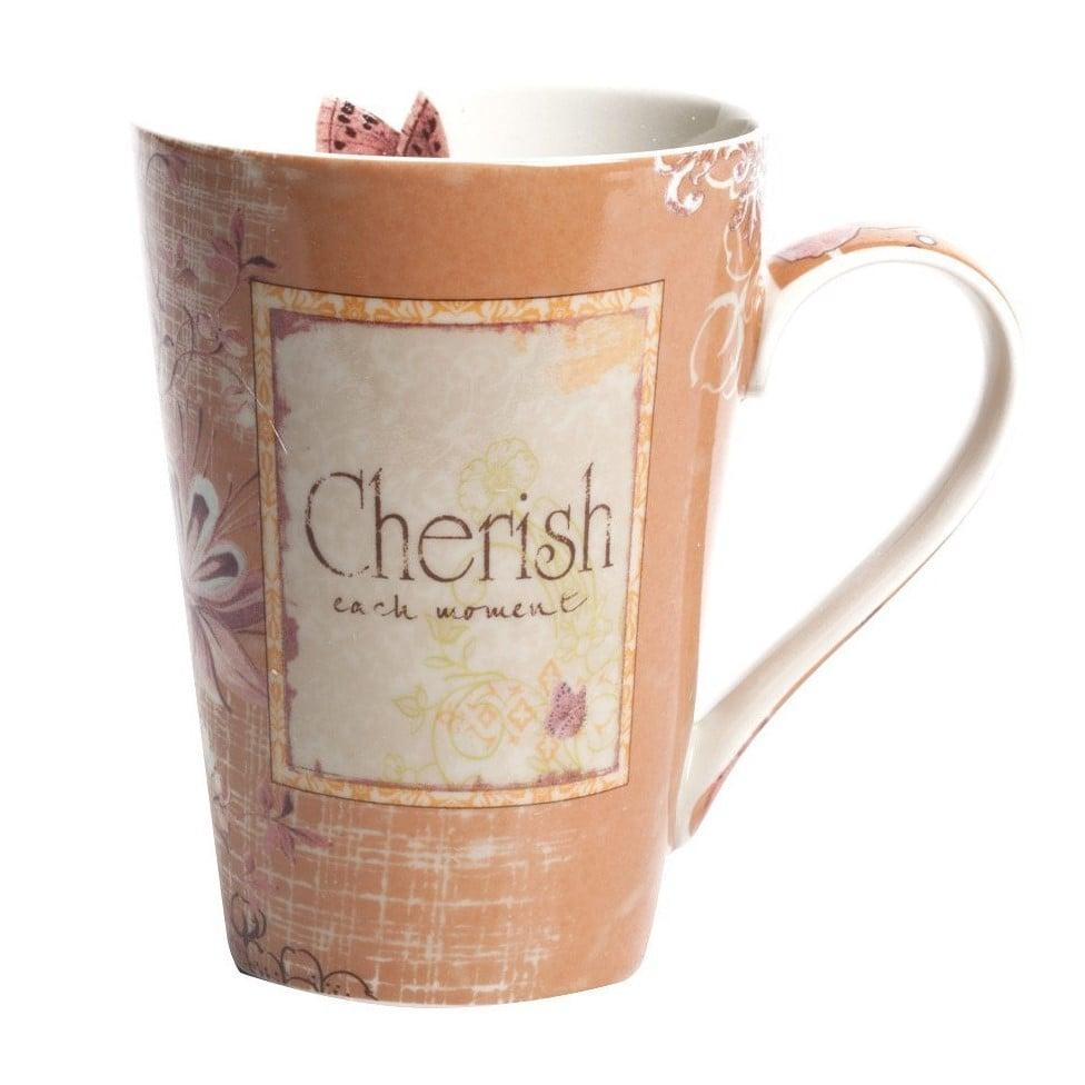 Кружка Cherish Персикового цвета