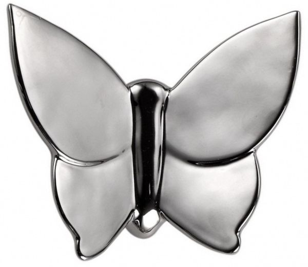 Декоративная бабочка Butterfly 12х14х5 (серебристая)